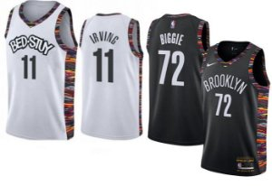 Camisas Brooklyn Nets - City edition / Bed-Stuy - 7 Kevin Durant ,11 Kyrie Irving, 72 Biggie