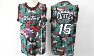 Camisas Retrô especial camuflada Toronto Raptors - 15 Vince Carter
