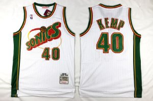 Camisas Retrô Seatle Supersonics - 20 Gary Payton, 40 Shawn Kemp