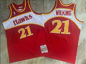 Camisas Atlanta Hawks Hardwood Classics M&N - 21 Dominique Wilkins, 4 Spud Webb