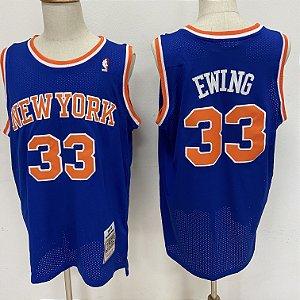 Camisas de Basquete Retrô New York Knicks - 33 Patrick Ewing