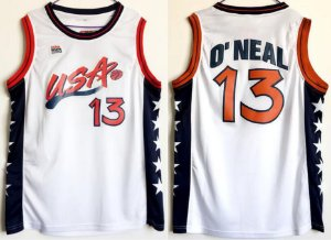 Camisas Dream Team Olimpíadas 1996 - 13 Shaquille O´Neal, 11 Karl Malone, 5 Grant Hill, 4 Charles Barkley