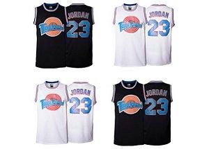 Camisas TuneSquad (Filme Space Jam) - 23 Jordan, 1 Bugs, 10 Lola, 2 D.Duck, 1/3 Twetty