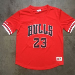 Camisas Chicago Bulls authentic Classics M&N, com mangas - Michael Jordan 23