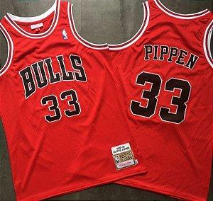 Camisas de Basquete Retrô Chicago Bulls Hardwood Classics M&N - Pippen 33, Rodman 91