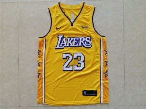 Camisa Los Angeles Lakers - City Edition - 23 LeBron James - 03 Anthony Davis - 24 Kobe Bryant