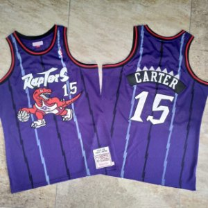 Camisas de Basquete Toronto Raptors Hardwood Classics M&N - 15 Vince Carter, 1 McGrady