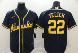 Camisas MLB Milwaukee Brewers - 22 Yelich