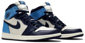 "Tênis Air Jordan 1 Retro High OG GS ""Obsidian / University Blue"" - ORIGINAL"