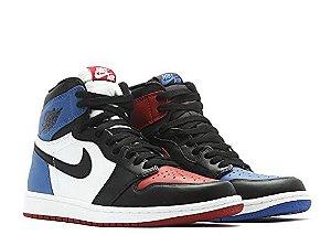 Tênis Air Jordan 1 Retro High OG Top 3 - preto/azul/vermelho/branco