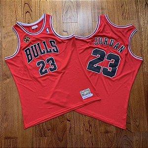 Camisa de Basquete Chicago Bulls Especial 20 Anos 1993 / 2013 Hardwood Classics M&N - 23 Michael Jordan