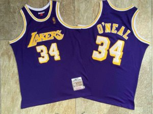 Camisas de Basquete Los Angeles Lakers Hardwood Classics M&N - 34 Shaquille O'Neal