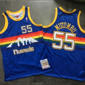 Camisa de Basquete Denver Nuggets Hardwood Classics M&N - 55 Mutombo