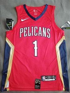 Camisa de Basquete New Orleans Pelicans versão Jogador - 1 Zion Williamson