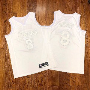Camisa de Basquete Los Angeles Lakers Especial All White - 8 Kobe Bryant, 24 Kobe Bryant