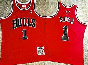 Camisa de Basquete Chicago Bulls Hardwood Classics M&N - 1 Derrick Rose