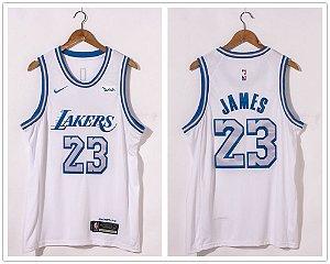 Camisa de Basquete Los Angeles Lakers 2021 - 23 James, 3 Davis, 24 Bryant