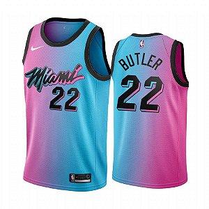 Camisa de Basquete Miami Heat 2021 City Edition - 14 Herro, 22 Butler, 13 Adebayo, 3 Wade