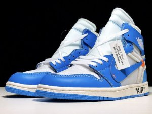 AIR JORDAN 1 RETRO HIGH X OFF WHITE UNIVERSITY BLUE