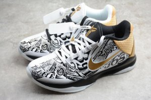 TÊNIS KOBE 5 PROTRO BLACK / WHITE / GOLD