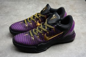 TÊNIS ZOOM KOBE 7 VII BLACK / PURPLE / GOLD