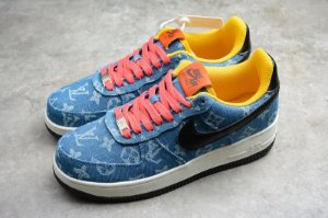 TÊNIS LOUIS VUITTON X AIR FORCE 1 LOW BLUE/BLACK/ORANGE