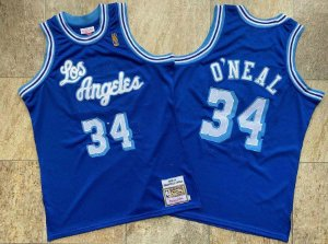 "Camisa de Basquete Los Angeles Lakers ""Los Angeles"" Hardwood Classics M&N- 32 Shaquille O'Neal"