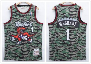 Camisa de Basquete Toronto Raptors Retrô Camuflada - 1 Mc Grady