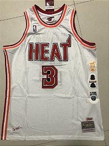 Camisa de Basquete Miami Heat L3GACY Hardwood Classics M&N - 3 Dwayne Wade