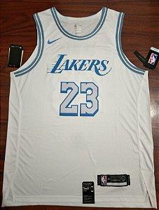 Camisa de Basquete Los Angeles Lakers 2021 City Edition versão Jogador - 23 Lebron James