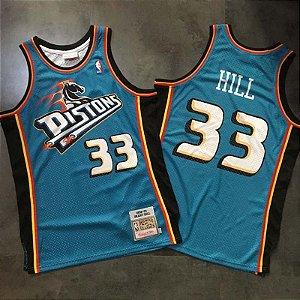 Camisa de Basquete Detroit Pistons 98/99 Hardwood Classics M&N - 33 Grant Hill