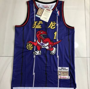 Camisa de Basquete Toronto Raptors Especial Ano Novo Chinês Hardwood Classics M&N - 1 Tracy McGrady