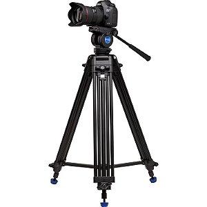 Kit Tripé para Vídeo Benro KH25N com cabeça fluido suporta até 5kg com bolsa