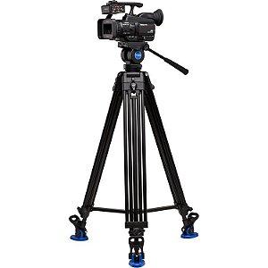 Kit Tripé para Vídeo Benro KH26NL com cabeça fluido suporta até 5kg com bolsa
