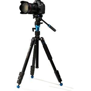 Kit Tripé Benro A1883FS2CA Video Travel Aero 2 - Vira Monopé  com bolsa e cabeça S4