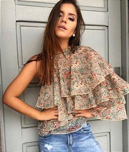 Blusa Babados Floral