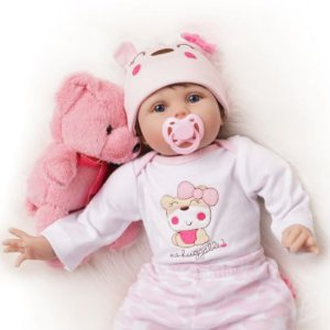 Boneca Bebê Reborn 55cm Realista