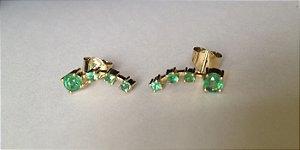 Par de brincos de esmeraldas