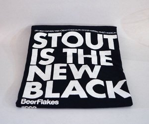 Camiseta - Stout is the New Black (BeerFlakes 002)