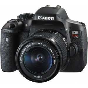 Câmera Digital Canon EOS Rebel T6i 24.2MP Vídeo Full HD + Kit Lente 18-55mm IS STM