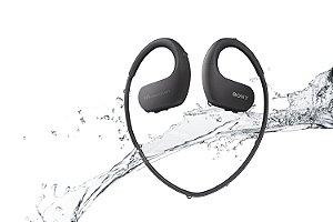 MP3 Player Esportivo Sony Walkman NW-WS413 Preto 4GB à Prova de Água