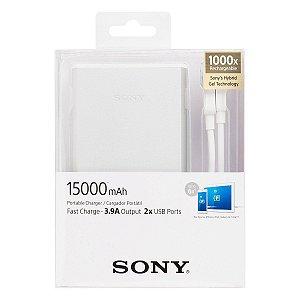 Carregador Portátil Sony CP-S15 Prata 15000mAh 2 Saídas USB