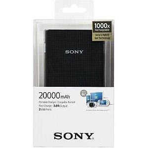 Carregador Portátil Sony CP-V20 Preto 20000mAh 2 Saídas USB