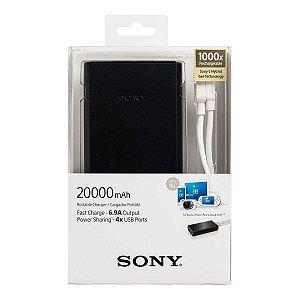 Carregador Portátil Sony CP-S20 Preto 20000mAh 4 Saídas USB