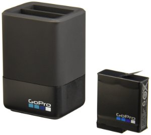 Carregador de Bateria Duplo GoPro AADBD-001 + Bateria GoPro AABAT-001 para Hero5 Black, Hero6 Black e Hero7 Black