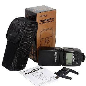 Flash Yongnuo Speedlite YN568EX III TTL para câmeras Canon