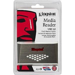 Leitor de Cartão Kingston FCR-HS4 USB 3.0 compatível com memórias CF, SDHC, microSDHC, MS PRO Duo e variações