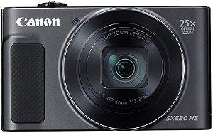 Câmera Digital Canon Powershot SX620 HS Wi-Fi 20.2MP Zoom Óptico 25X Vídeo Full HD