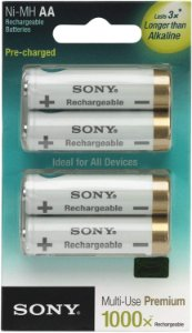 Pack com 4 Pilhas Sony Tipo AA 2000mAh