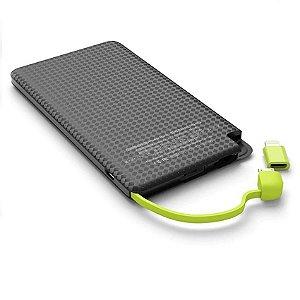 Carregador Portátil Kaidi KD-952 Preto Slim 5000mAh USB